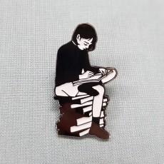 독서-흑니켈도금 칠 뱃지